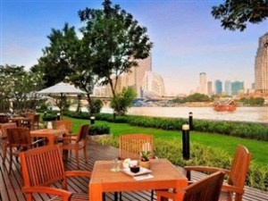 Lovely eating area on the riverside.  Photo credit: agoda.com