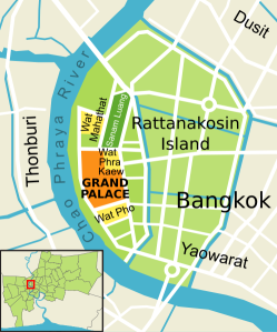 Map of the Grand Palace